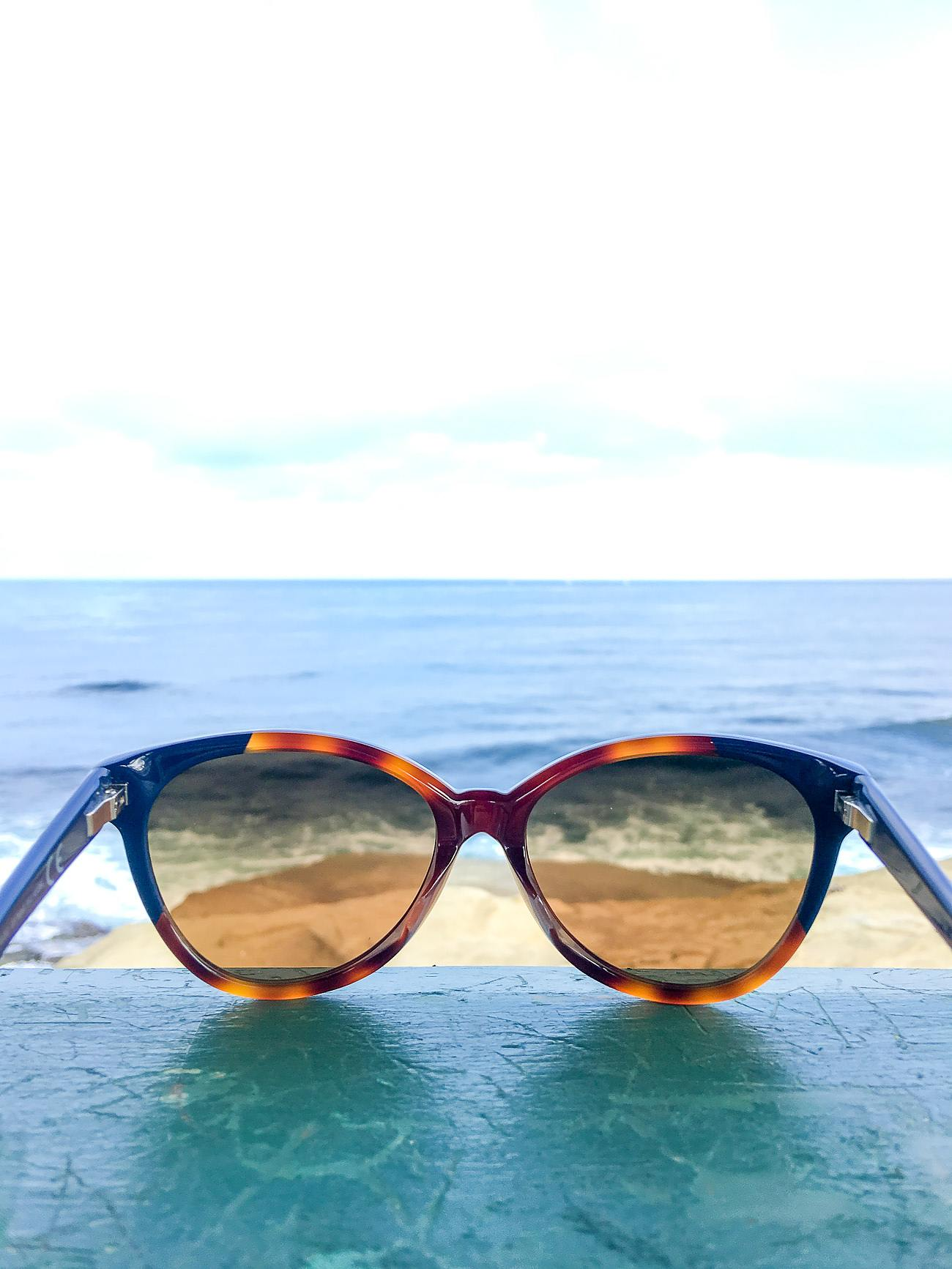 Maui Jim Sunshine sunglasses in tortoise and navy blue