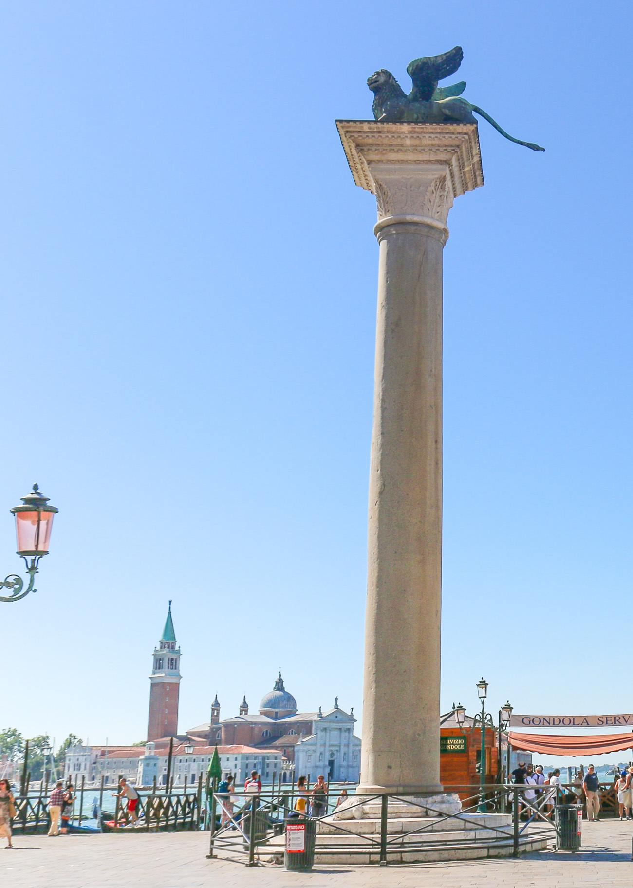 St. Mark's Lion at Piazzetta San Marco in Venice, Italy
