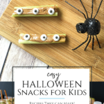 Try these easy recipes for healthy Halloween snacks for kids that they can make themselves and take to school, parties, and play dates.