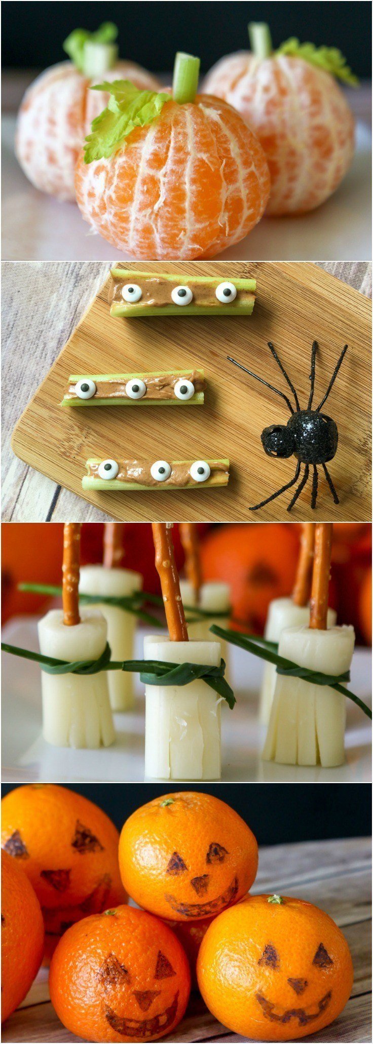Recipes for easy and healthy Halloween snacks for kids to take to school, parties, and play dates.