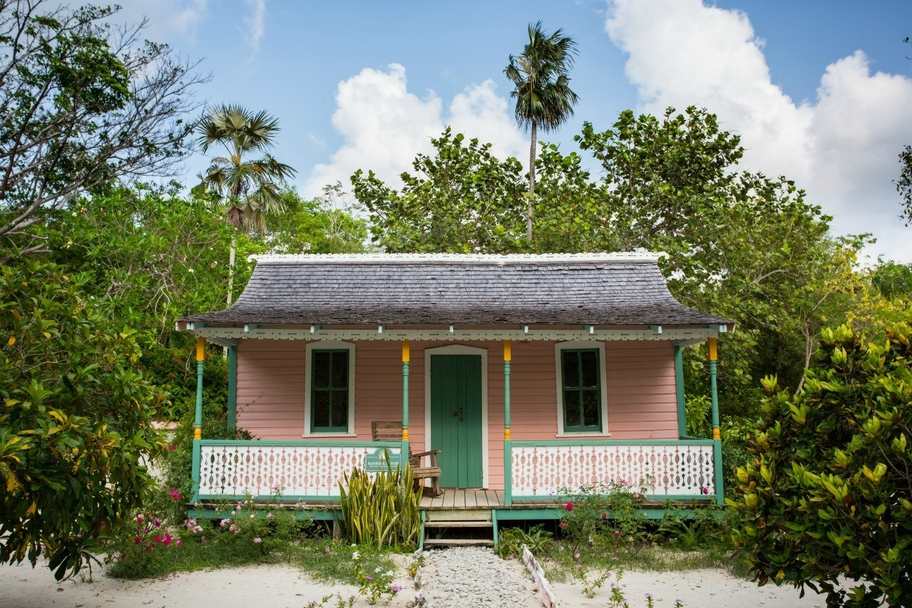 A restored Caymanian home at Grand Cayman's Queen Elizabeth II Royal Botanic Park.