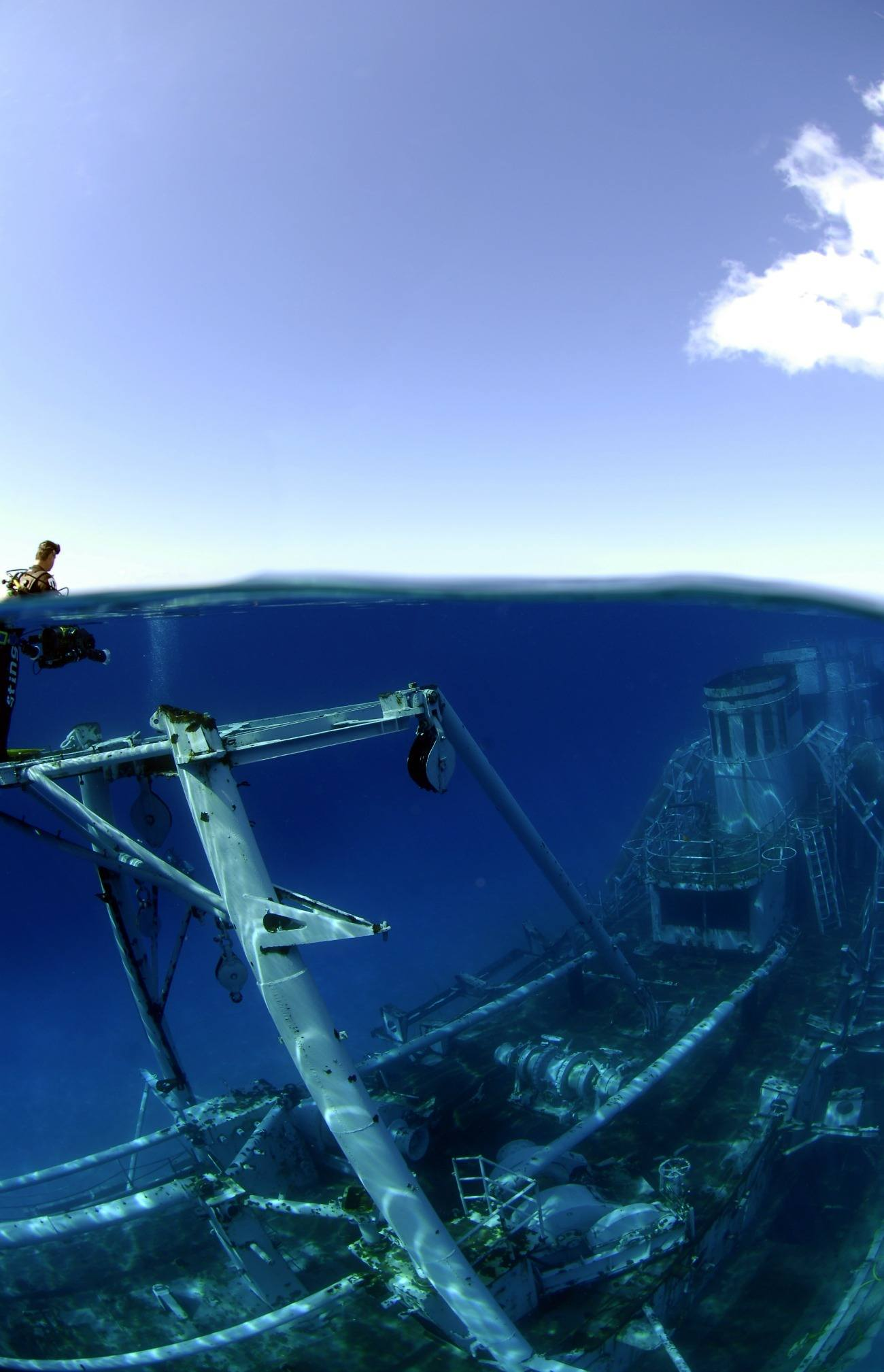 Snorkel or dive around the Kittiwake shipwreck in Grand Cayman.