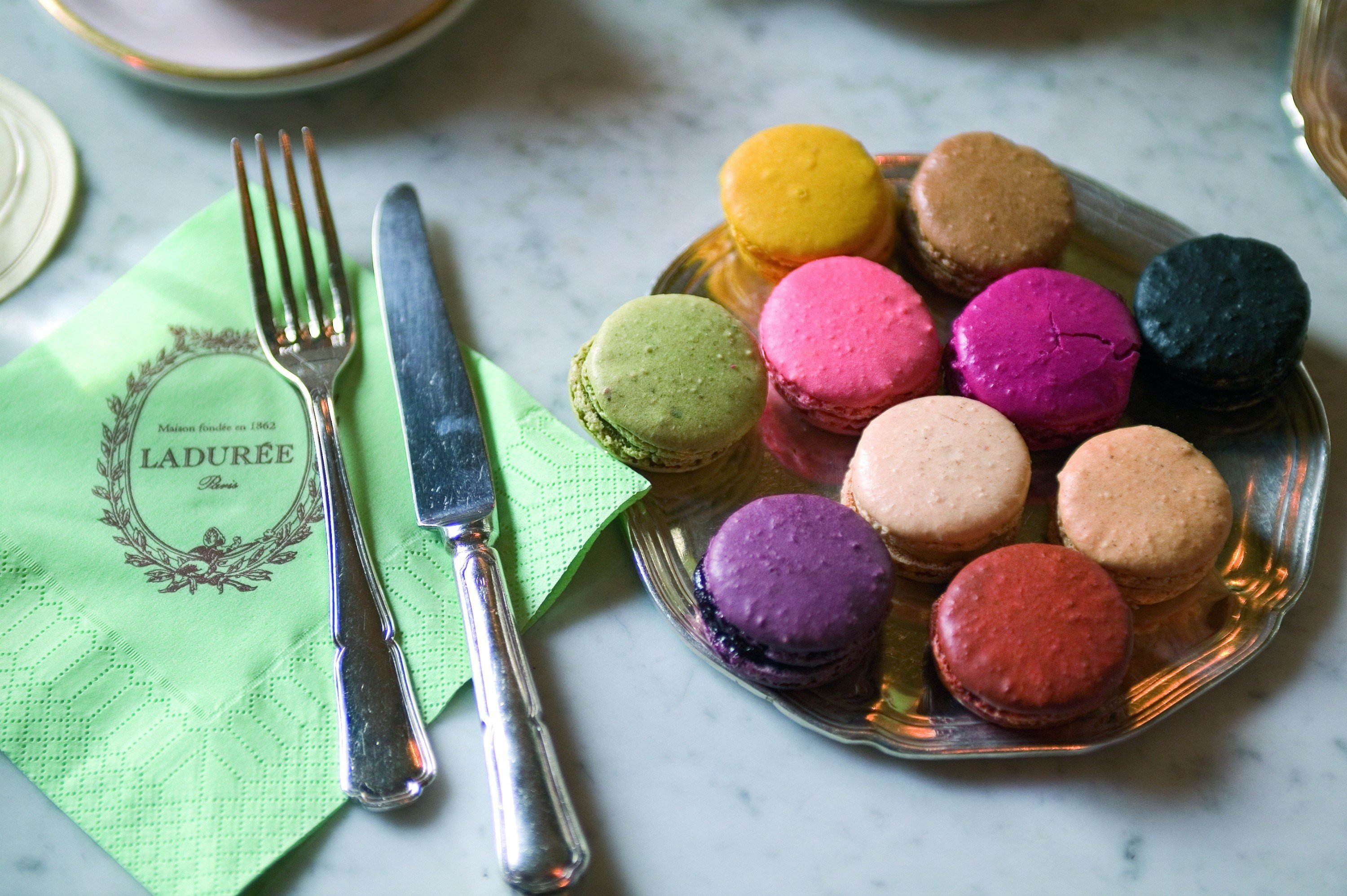 It's a tradition for us to have lunch at the Ladurée café in Paris. Here's why.