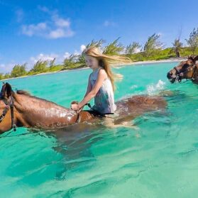 What It's Like to Ride Swimming Horses in Grand Cayman