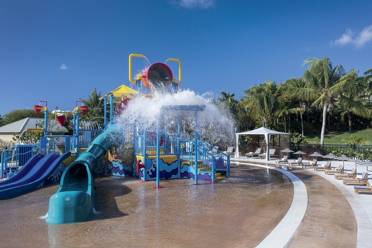 Starfish Cay is a special water play area for kids at The Ritz-Carlton, Grand Cayman