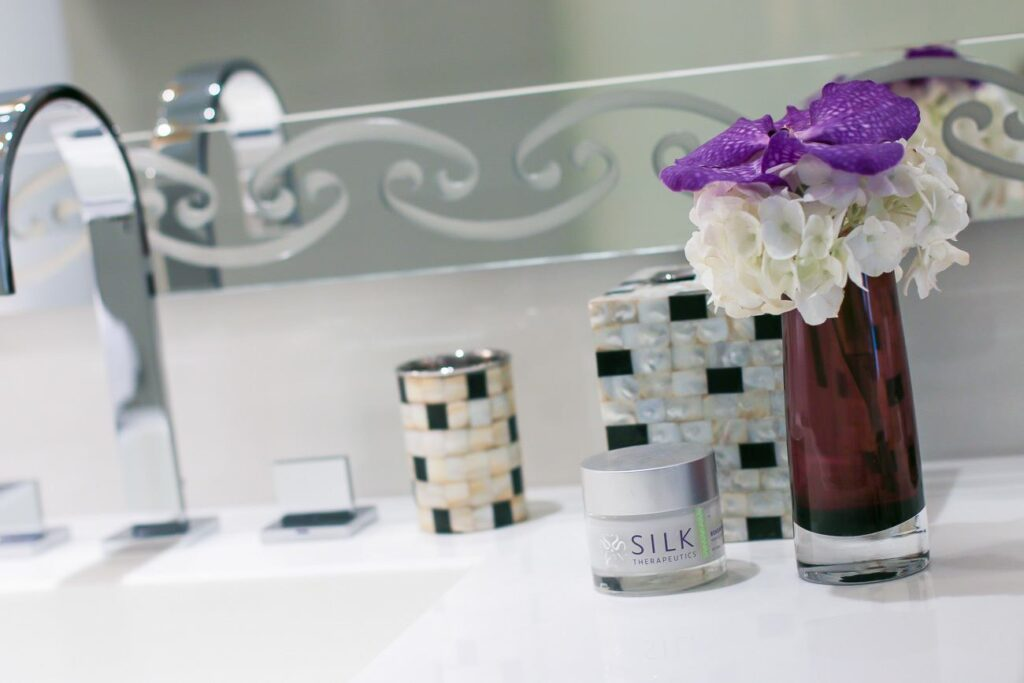 Learn the benefits of silk-based skincare. I use Silk Therapeutics which has 8 ingredients or less.