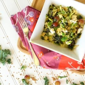Recipe: Warm Superfood Salad with Brussels Sprouts, Kale, Goat Cheese