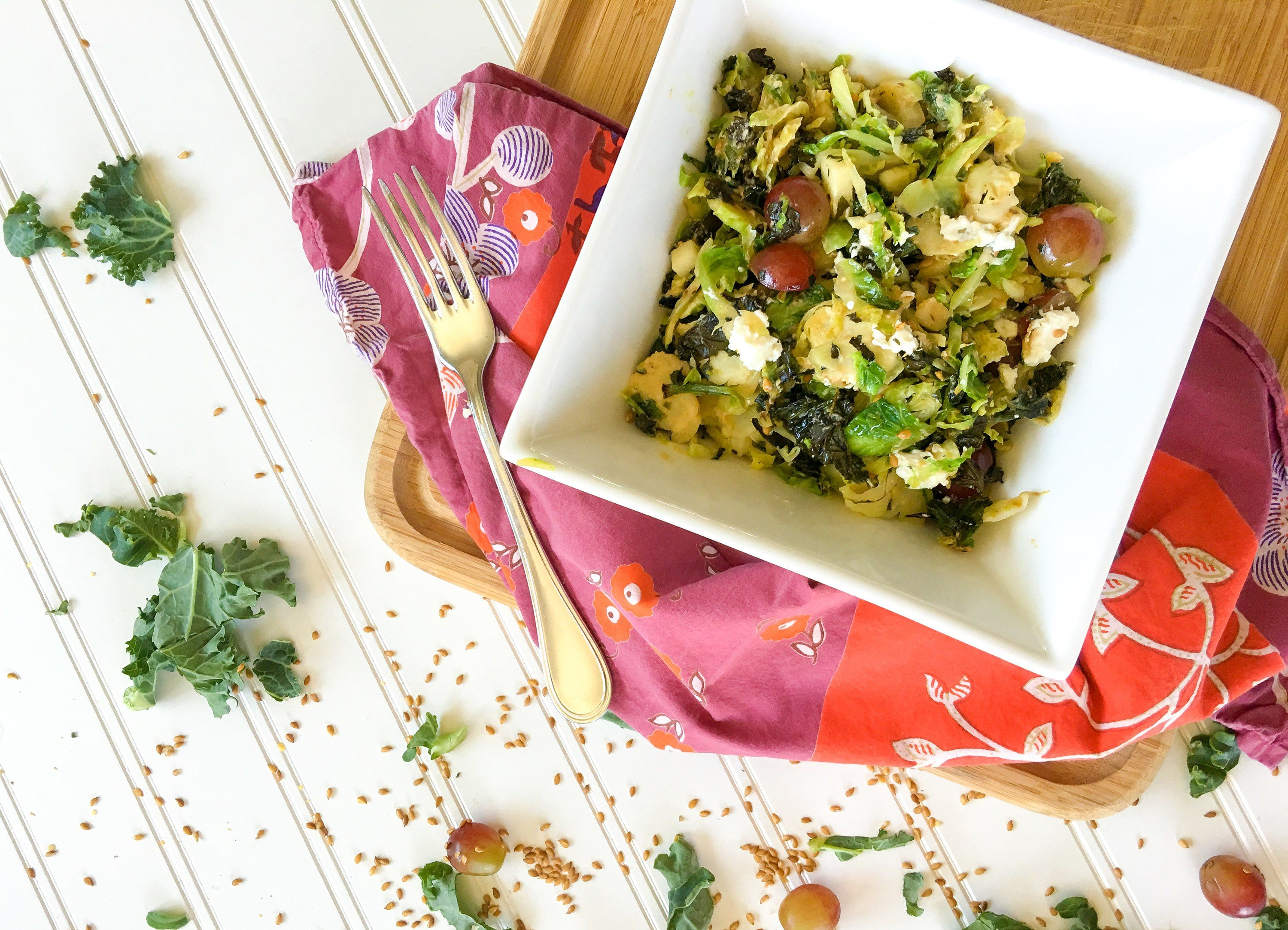 Recipe Warm Superfood Salad With Brussels Sprouts La