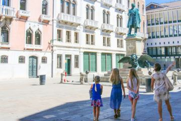 When on a vacation in Venice with kids, book a Lion Hunt with Context Travel., one of the best things to do in Venice with kids.