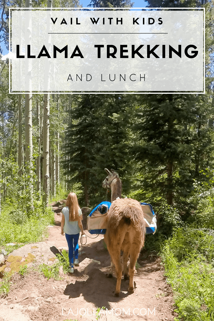 See why llama trekking (and lunch) is one of the best things to do in Vail with kids (or without) during a pretty Colorado summer.