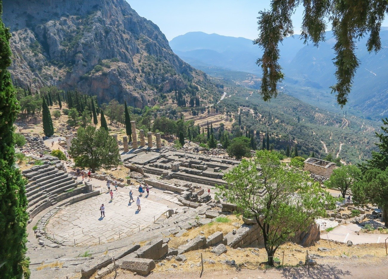 The theatre at Delphi could seat 5000 people for music, poetry events and much more.
