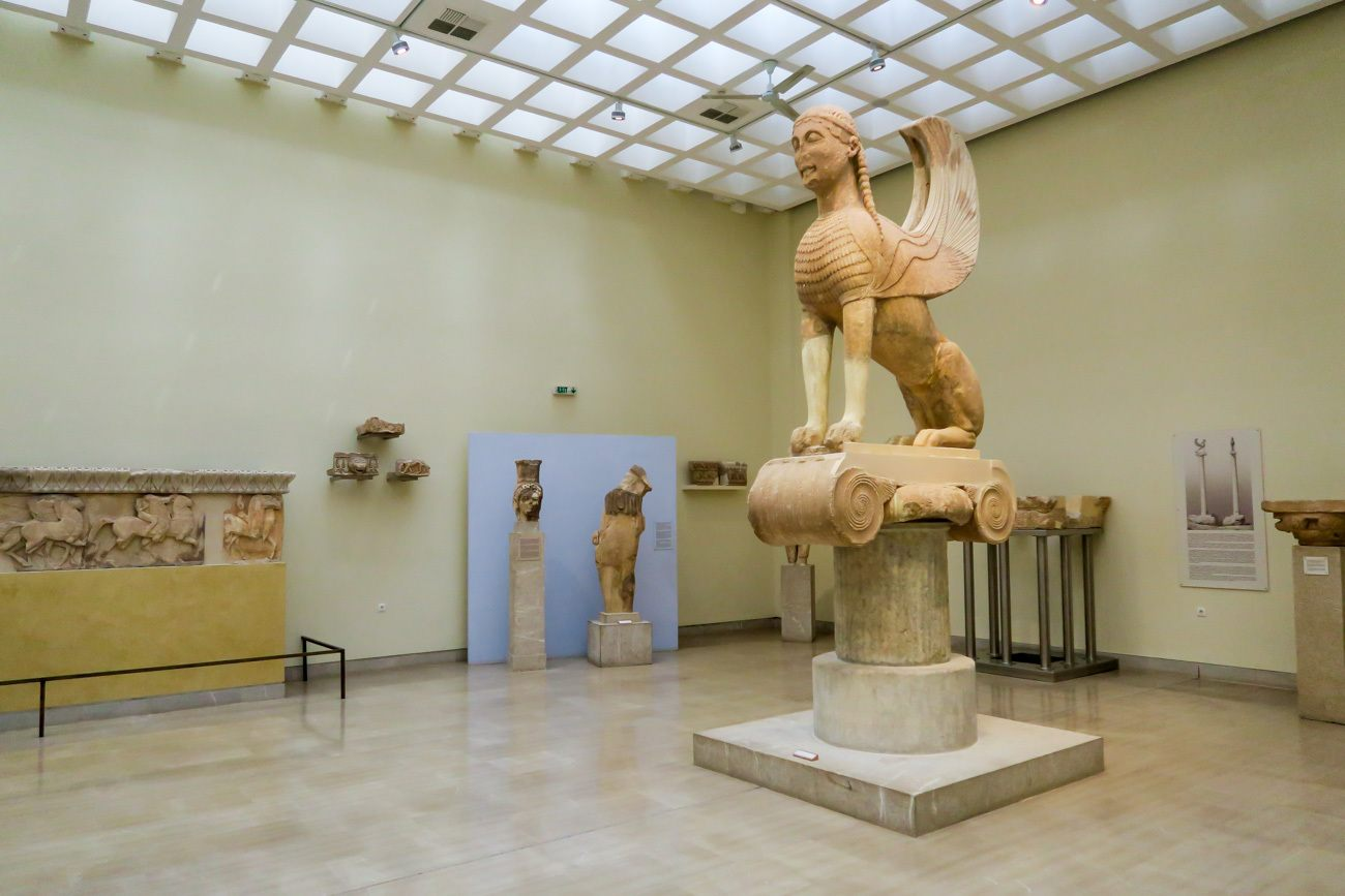 The museum at Delphi, a day trip from Athens.
