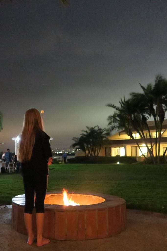 Choose a ground floor room with a fire pit at Hilton San Diego Resort on Mission Bay in order to roast s'mores and have extra space for the kids to play.