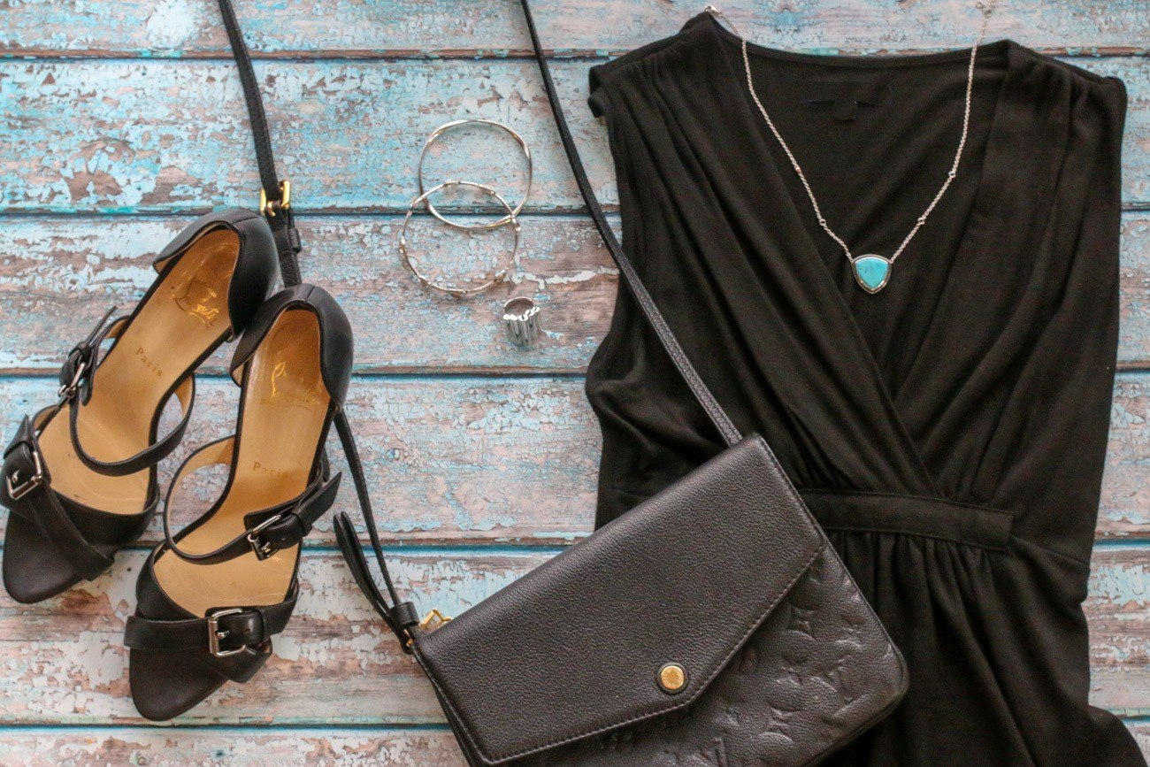 Accessorize a basic black dress with turquoise from the Lisa Bridge Collection of jewelry.