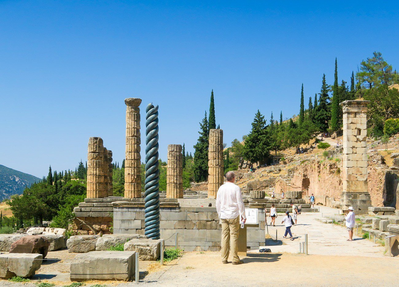 The Temple of Apollo is where the Oracle of Delphi was.