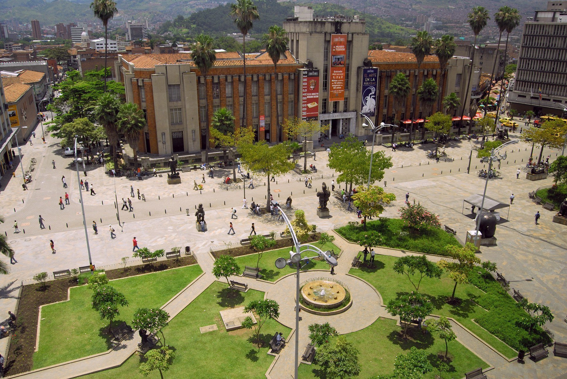 The Museo de Antioquia is free during the Christmas season in Medellín, Colombia.