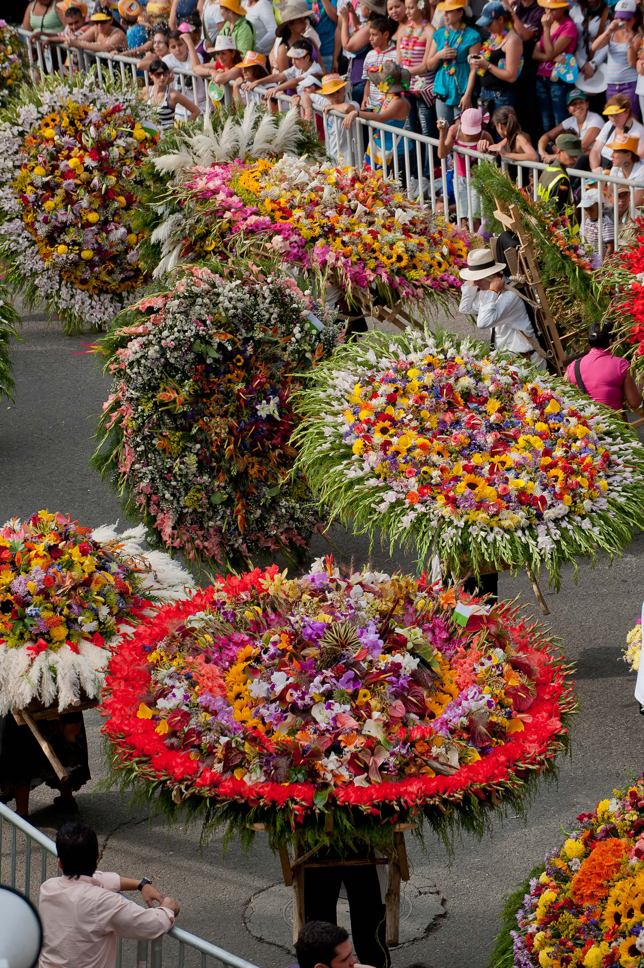 Medellín, Colombia is famous for cut flowers which is celebrated in a major August festival.