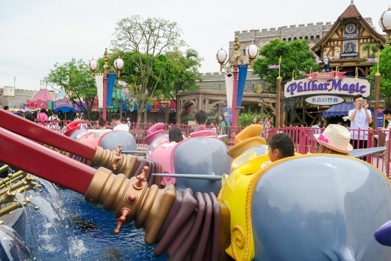 Fantasyland at Hong Kong Disneyland has Dumbo, it's a small world, and other popular rides.