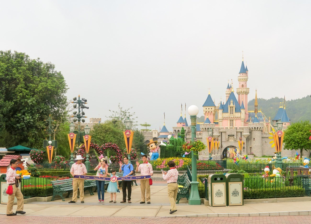 Get to Hong Kong Disneyland a few minutes before it opens to see the opening ceremony.