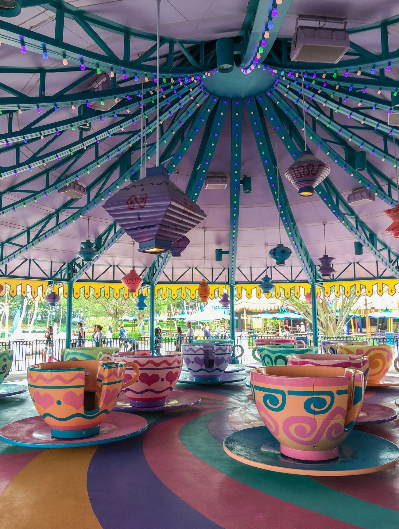 The Mad Hatter Tea Cups at Hong Kong Disneyland