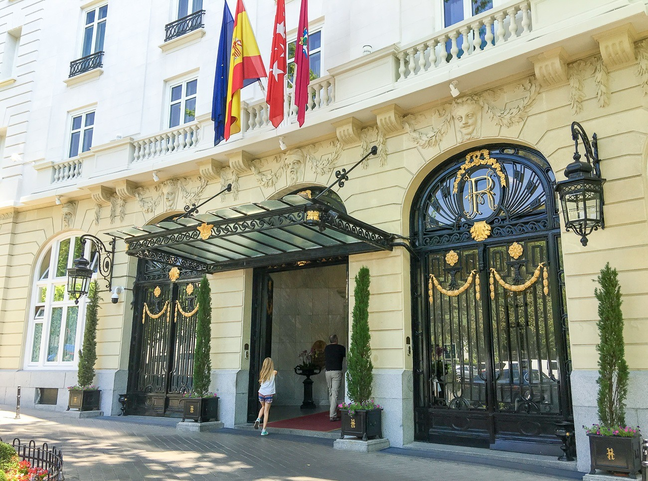The Hotel Ritz, Madrid is located in the city's Golden Triangle of culture.