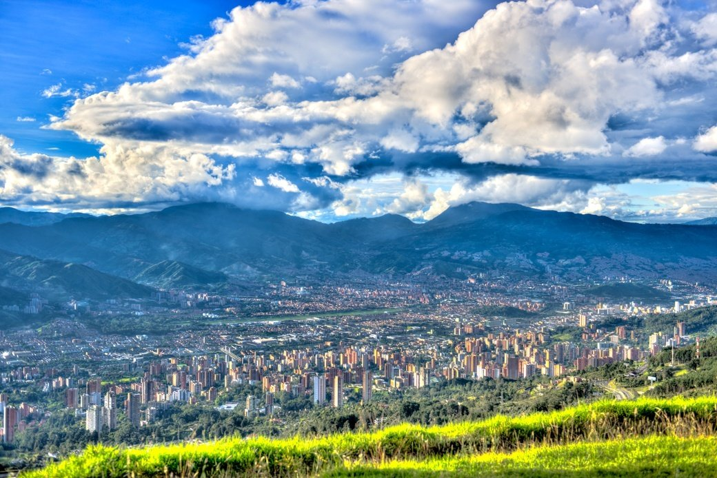 A panoramic view of Medellín, Colombia
