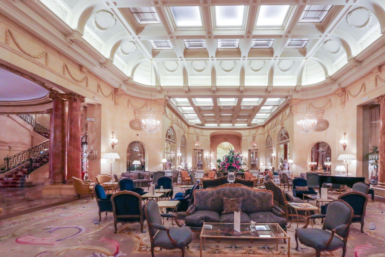 The Hall serves drinks and light bites at Hotel Ritz Madrid.