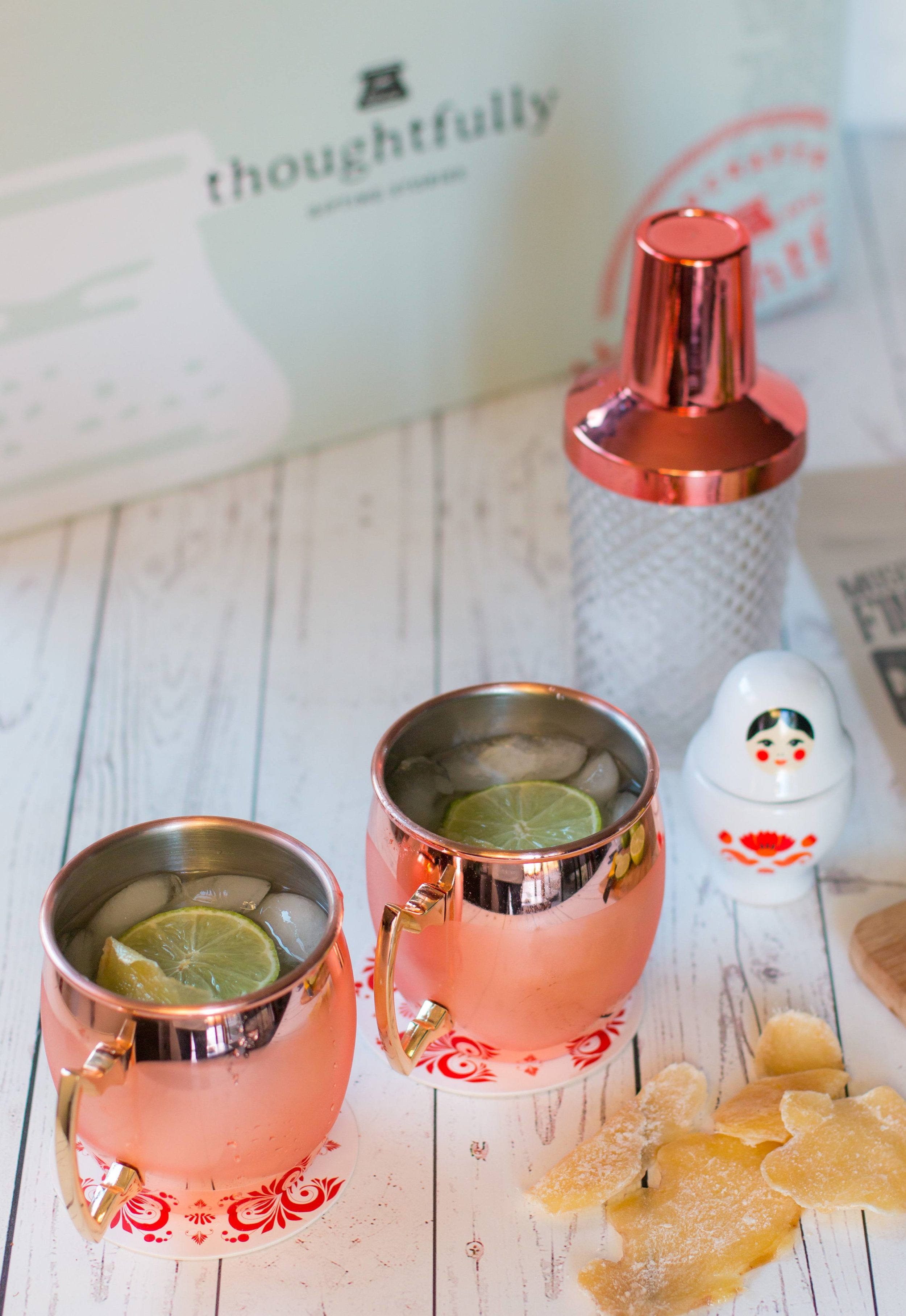 A clever Moscow mule lover's gift set.