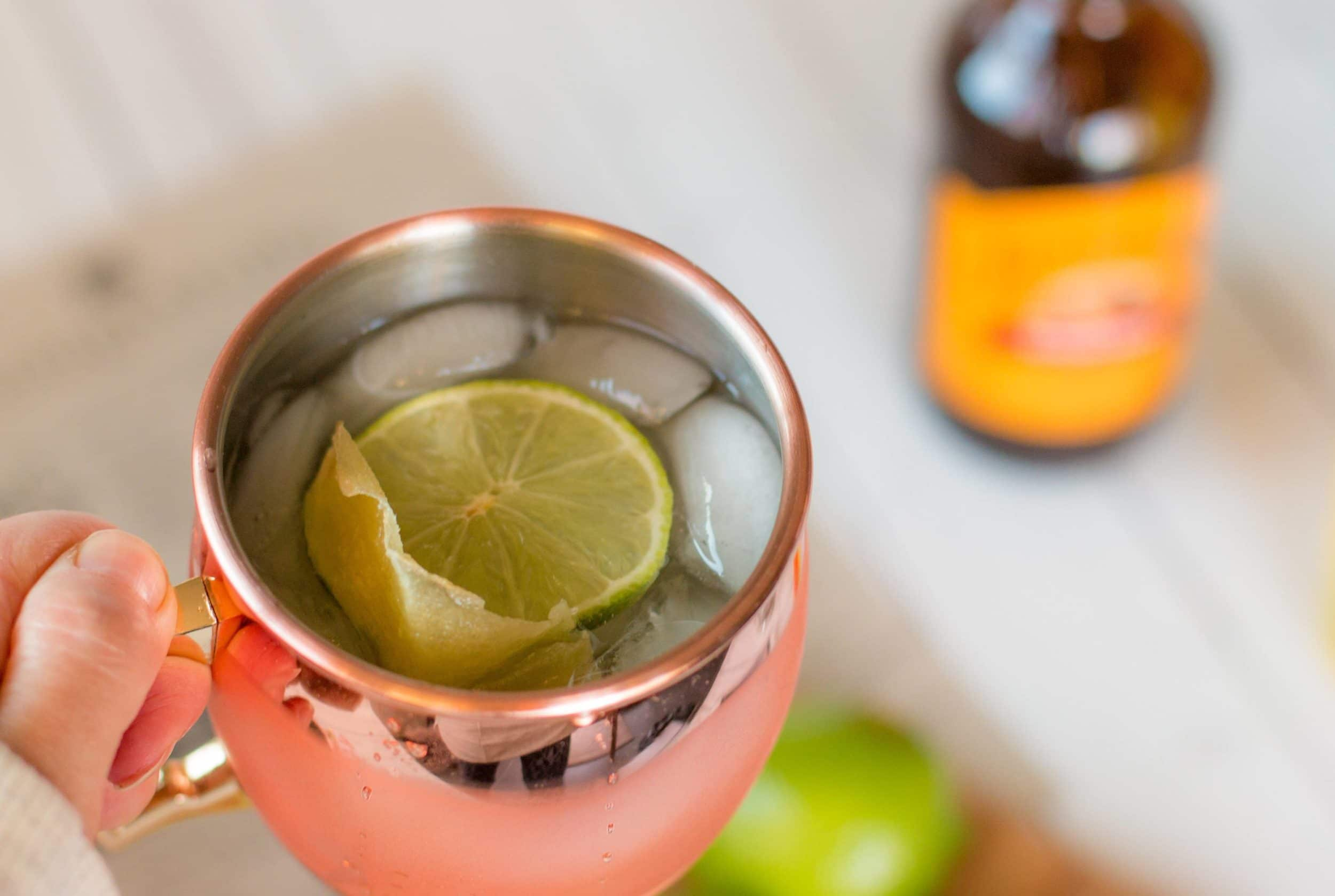 A Moscow mule made from a Thoughtfully gift box.