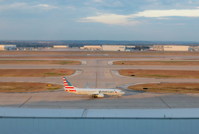 View of the runway from Grand Hyatt DFW, a great airport hotel.