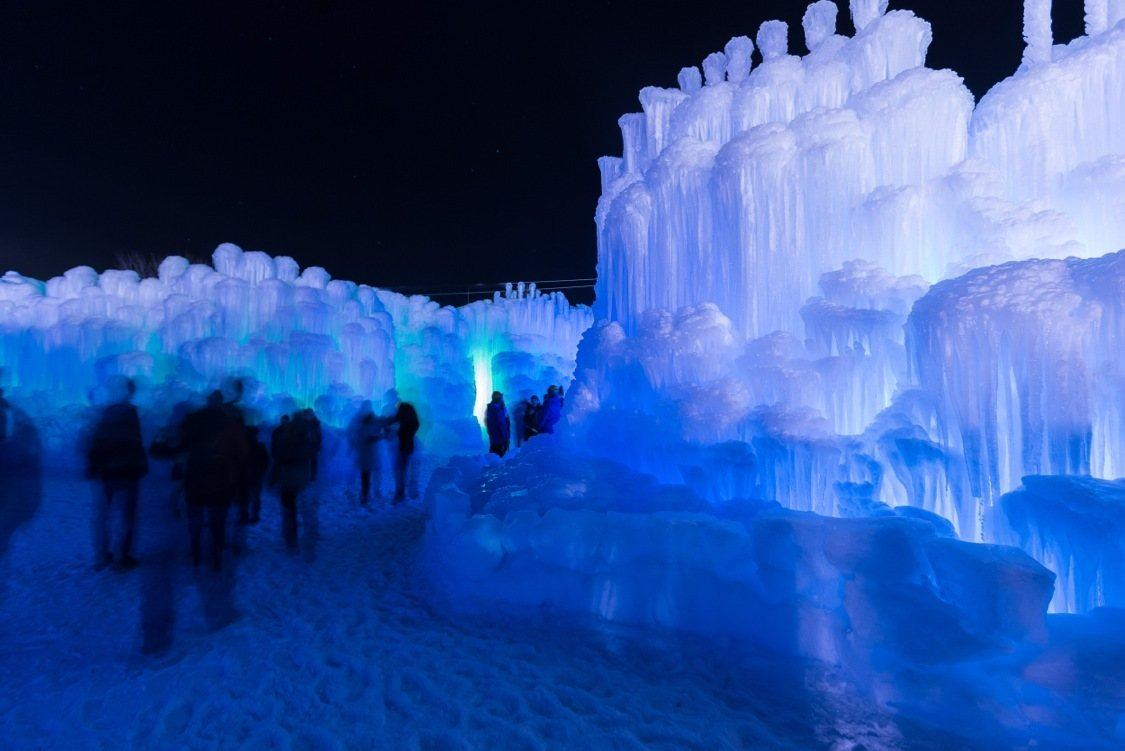 Heber Valley's ice castle is a unique structure that is different than traditional ice palaces as it begins with a single icicles that gets watered and molded to other icicles until a massive structure forms.