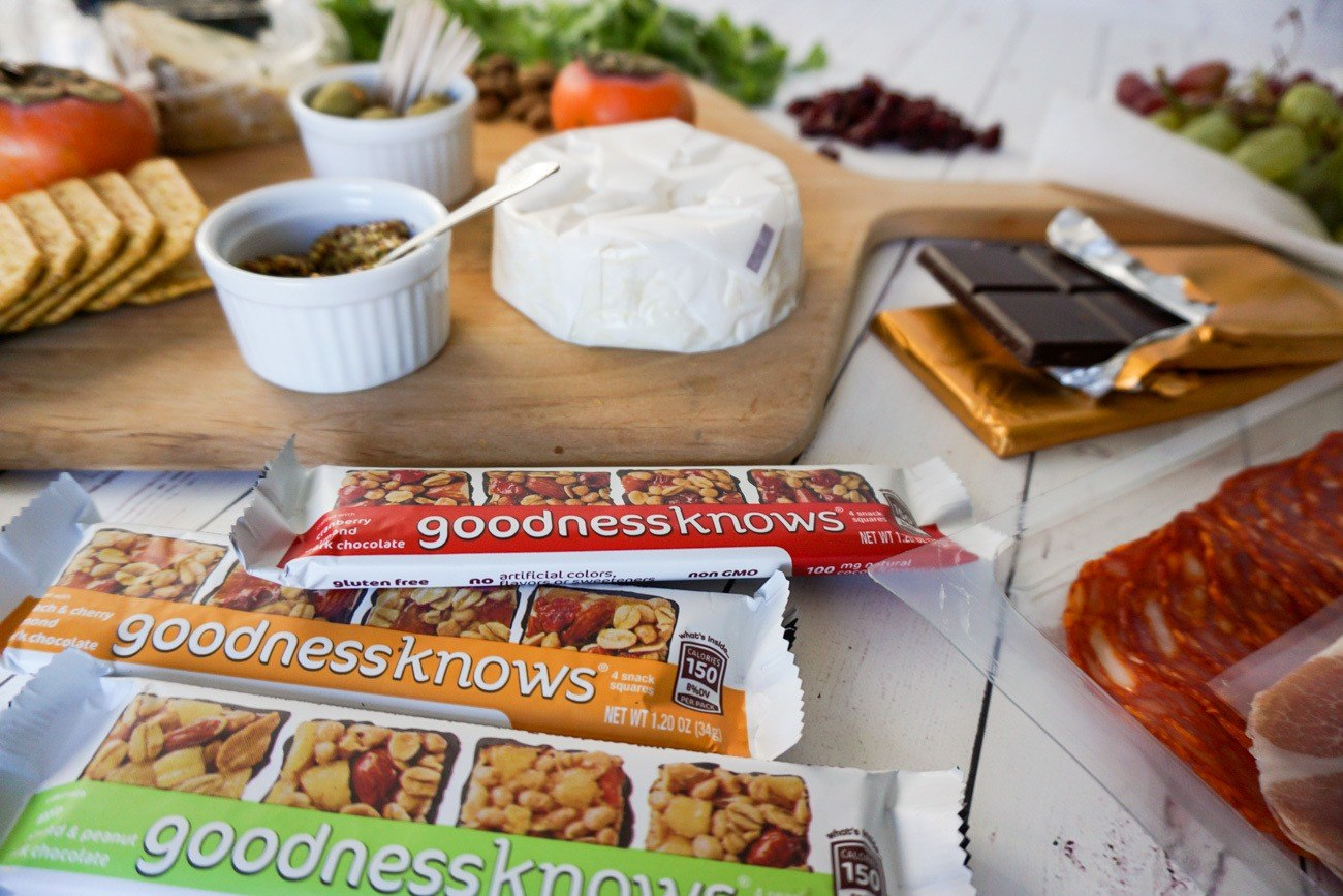 Chocolate and bite sized snack squares make excellent additions to a cheese plate.