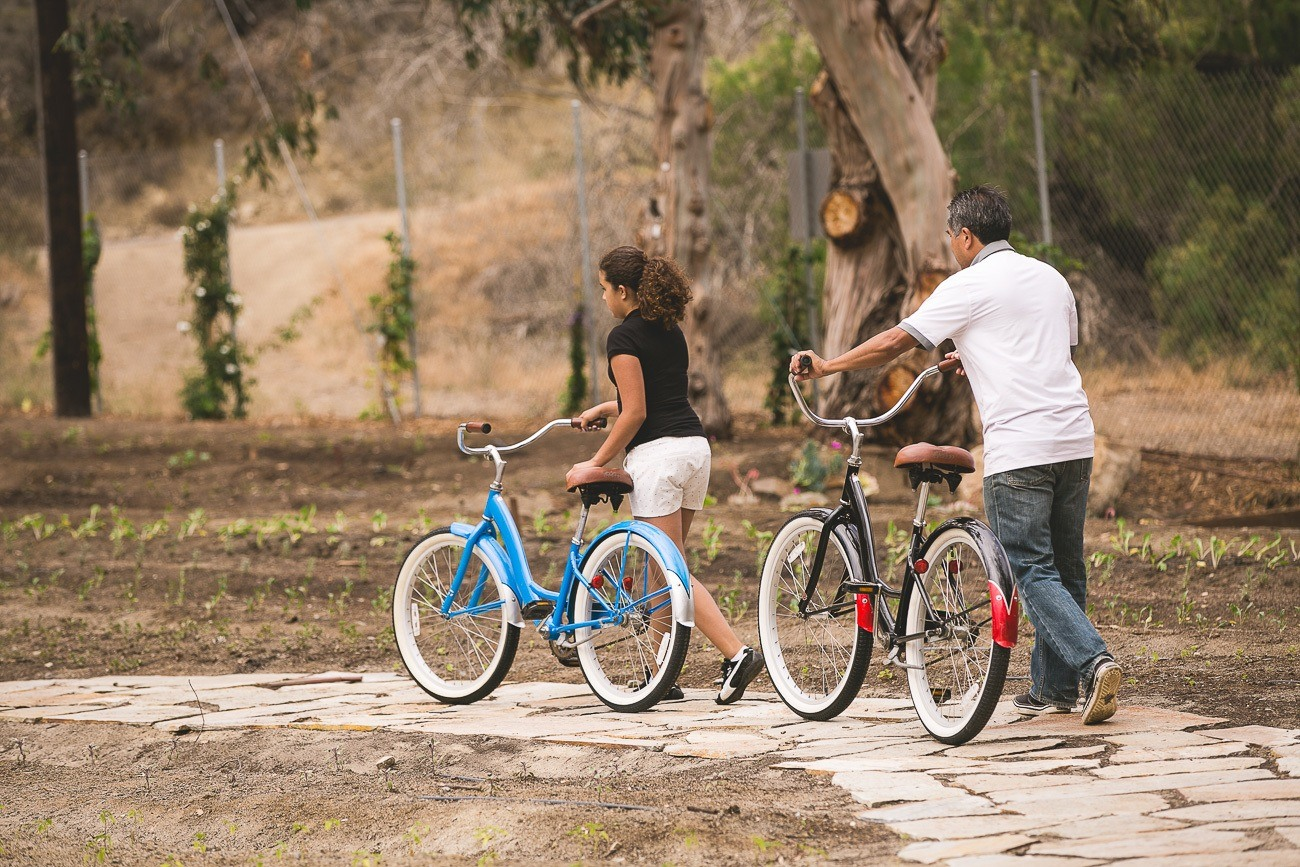Rent bicycles at The Ranch at Laguna Beach to explore the trails around the boutique ranch hotel.