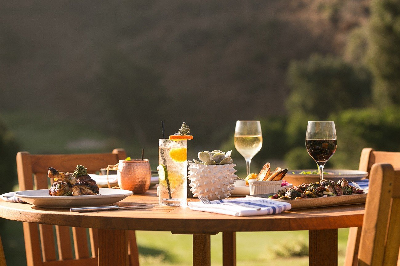 Al fresco dining at The Ranch at Laguna Beach, a great California boutique hotel.