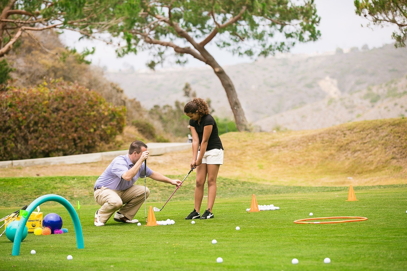 The Ranch at Laguna Beach has a novice- and family-friendly 9-hold golf course.