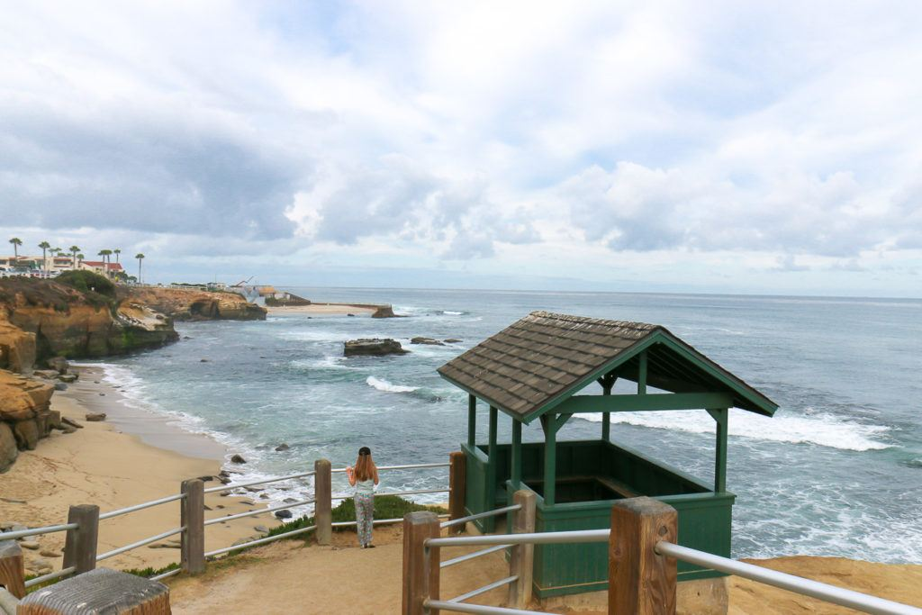 Shell Beach is one of the best La Jolla beaches because of easy access, sea shells and small patch of sand.