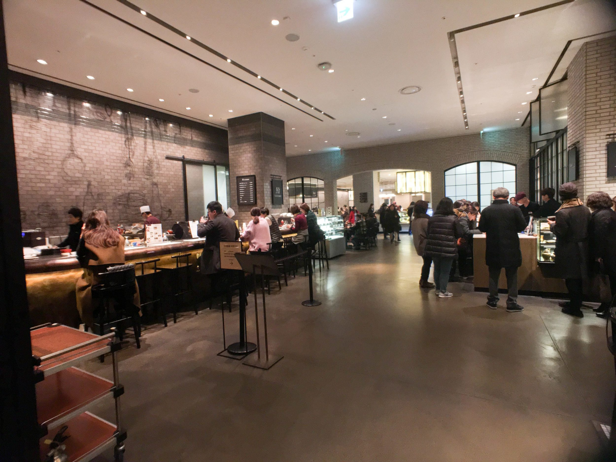 The food hall at Shinsegae department store in Seoul has lots of cuisine choices.
