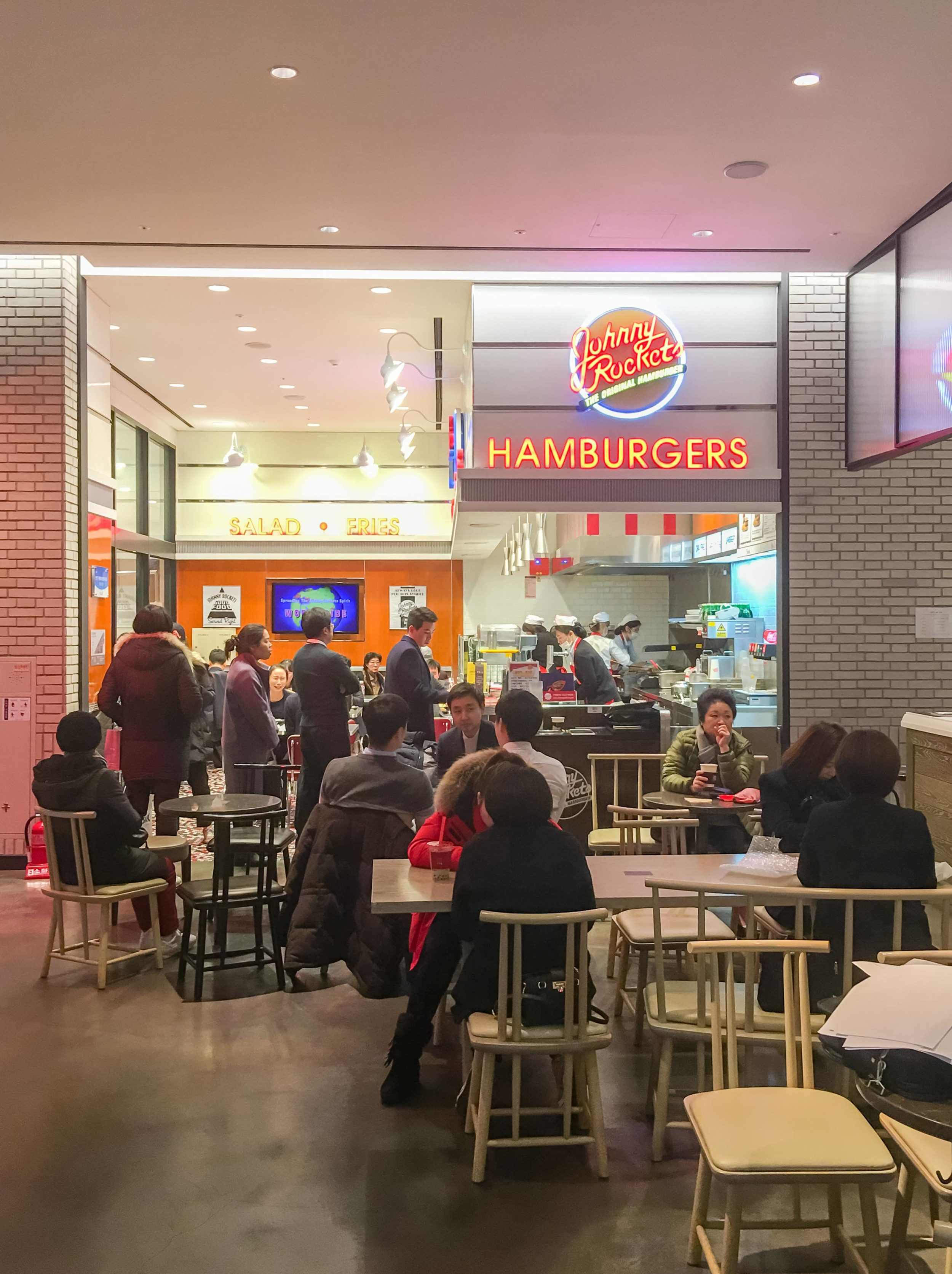 Johnny Rockets is a Western food option inside Shinsegae department store's food hall in Seoul.