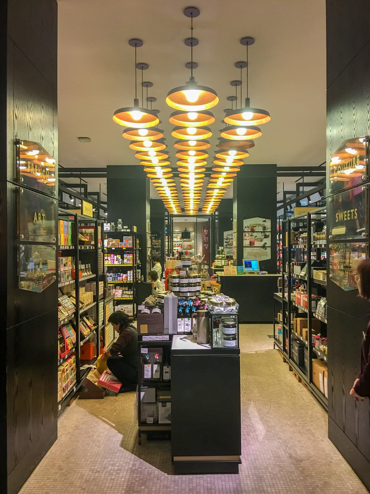 The Shinsegae food hall in Seoul is a great place to buy souvenirs of Korean teas, herbs and even some French gourmet favorites.