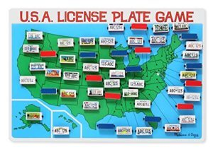 Melissa & Doug License Plate Game is a great travel game for road trips.