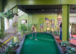 Miniature golf at Belmont Park.