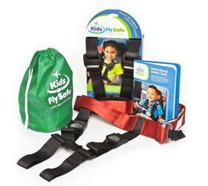 The CARES Airplane Harness is the only FAA approved restraint for kids