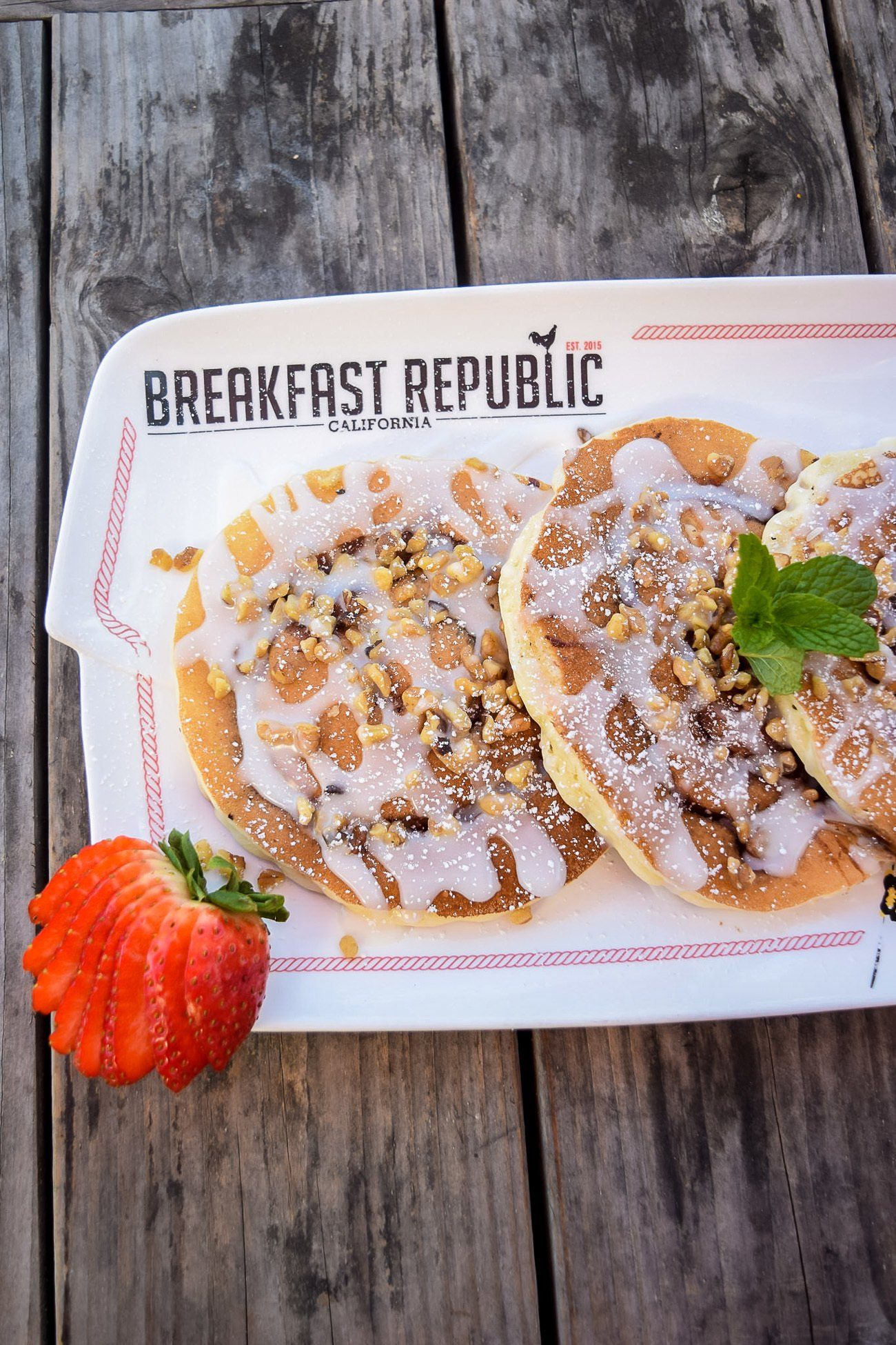 Get the recipe for San Diego's Breakfast Republic restaurant's most popular dish: Cinnamon roll pancakes.