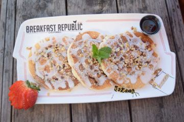The cinnamon roll pancake is the most popular breakfast item at San Diego's Breakfast Republic restaurants.