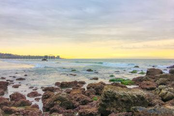 View of La Jolla from the Dike Rock tide pools near Scripps Pier.