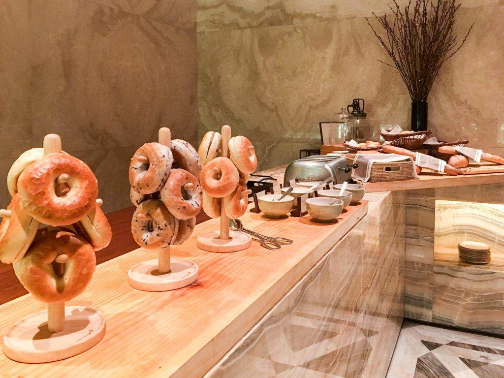 I love the way the bagels are displayed at Four Seasons Hotel Seoul.