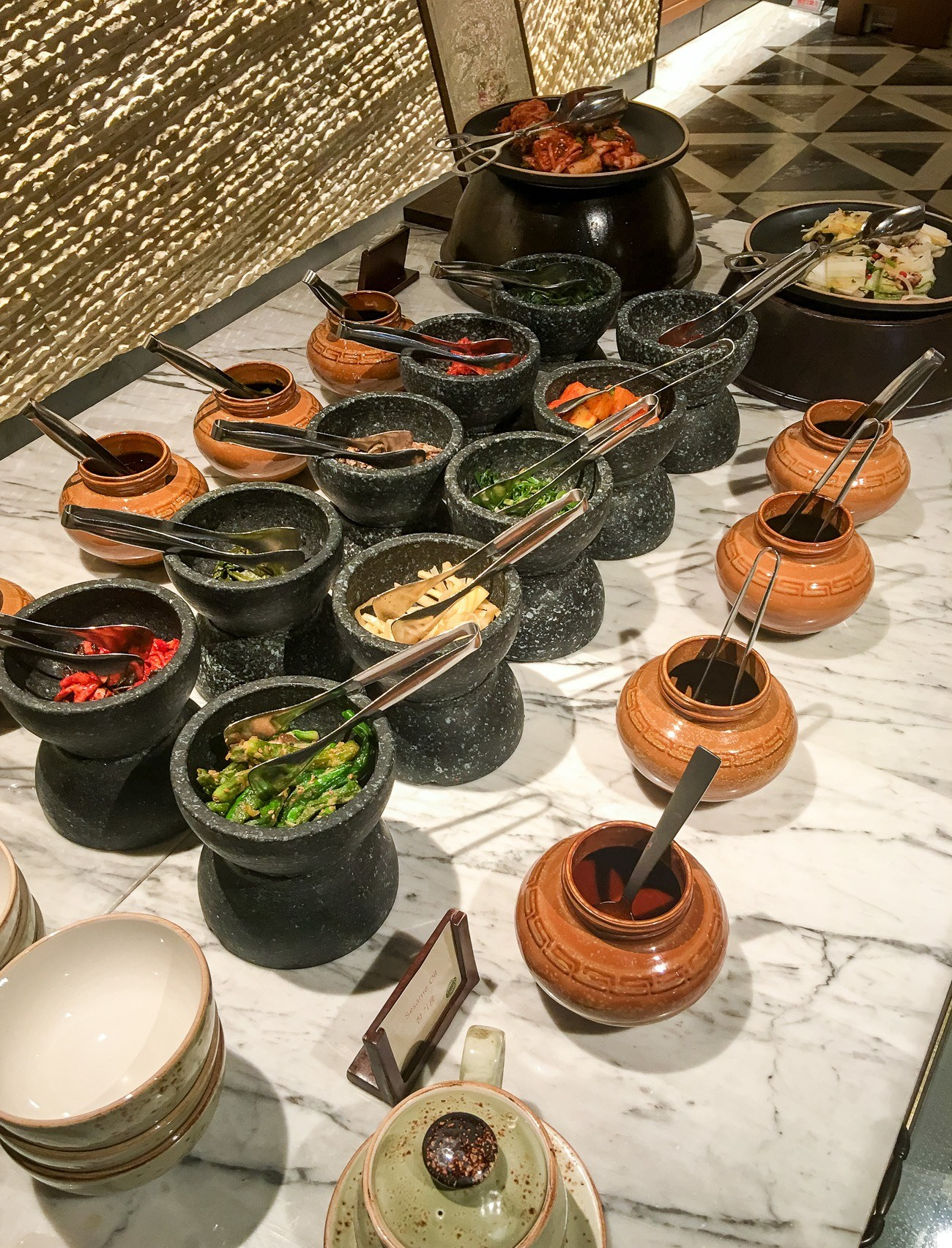 The bibimbap breakfast bar at Four Seasons Hotel Seoul