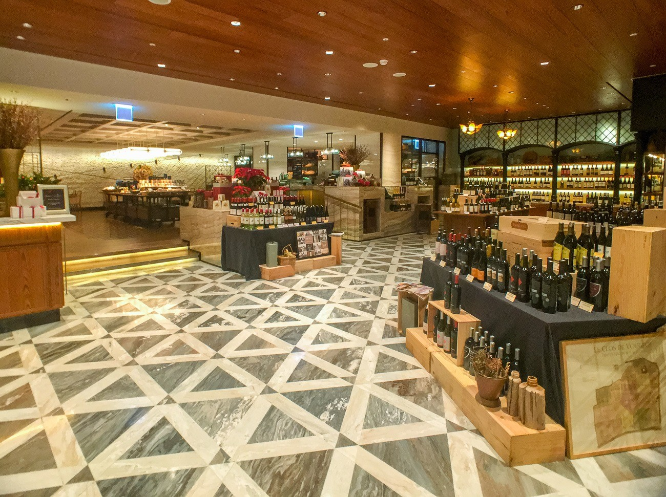 The Marketplace inside Four Seasons Hotel Seoul has a well-curated wine selection.
