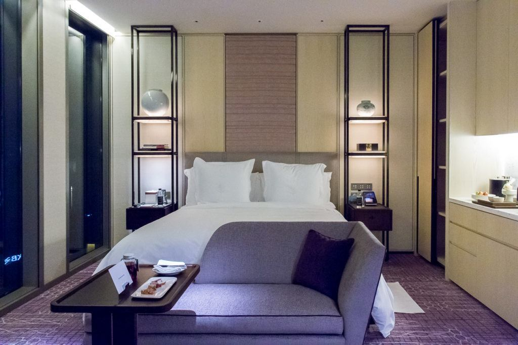 The gorgeous room at Four Seasons Hotel Seoul.