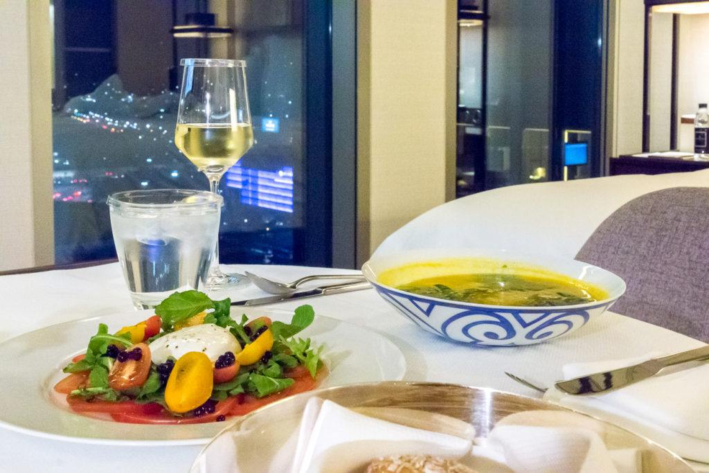 In-room dining at Four Seasons Hotel Seoul.